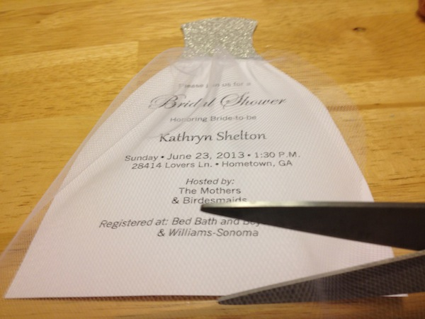 How to diy bridal shower invitations we tie the knots for How to make bridal shower invitations